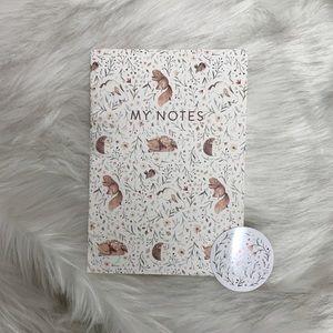 Woodland Animals Notebook with Sticker